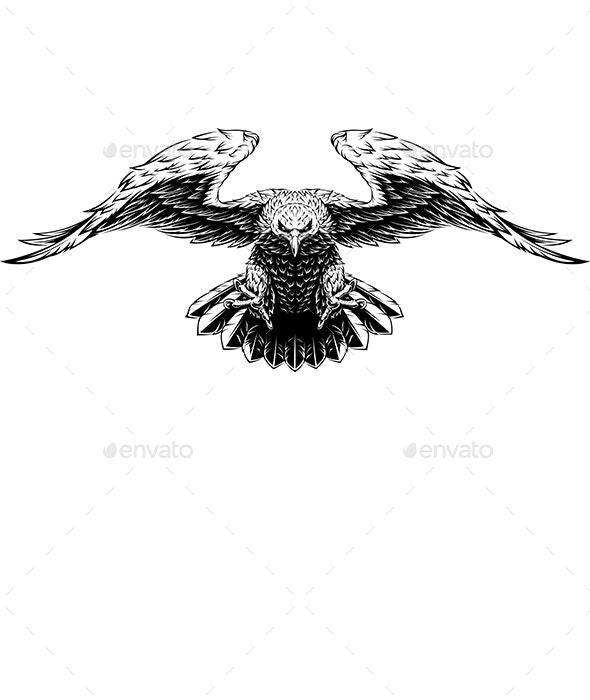 Flying Eagle - Animals Characters