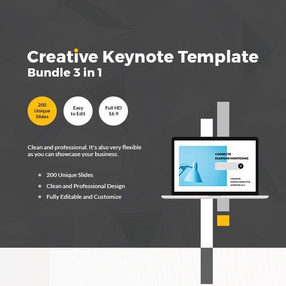 Creative Keynote Template Bundle 3 in 1