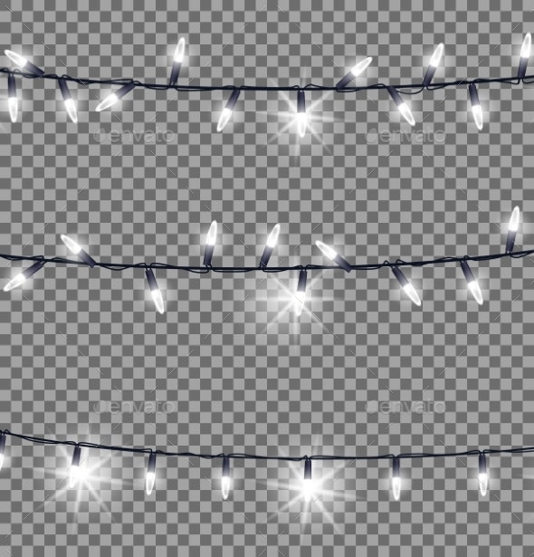 Strings of Glowing Christmas Lights Illustration - Christmas Seasons/Holidays