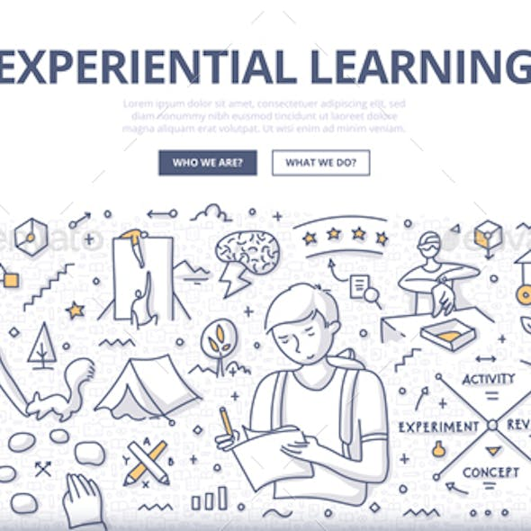 Experiential Learning Doodle Concept
