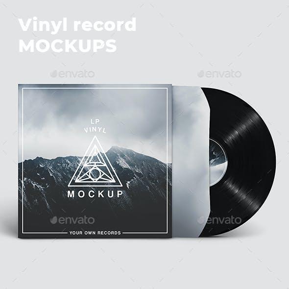 Vinyl Record Mockups