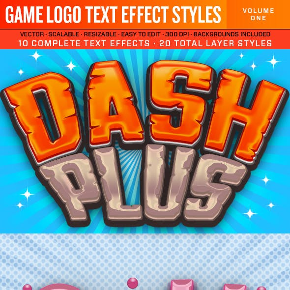 Game Logo Text Effect Styles 1