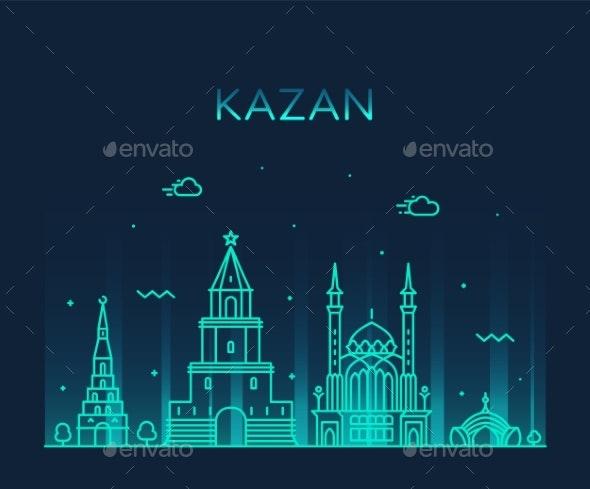 Kazan Skyline - Buildings Objects