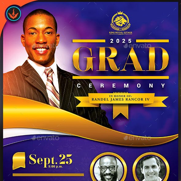 Pastor's Graduation Ceremony Flyer Template