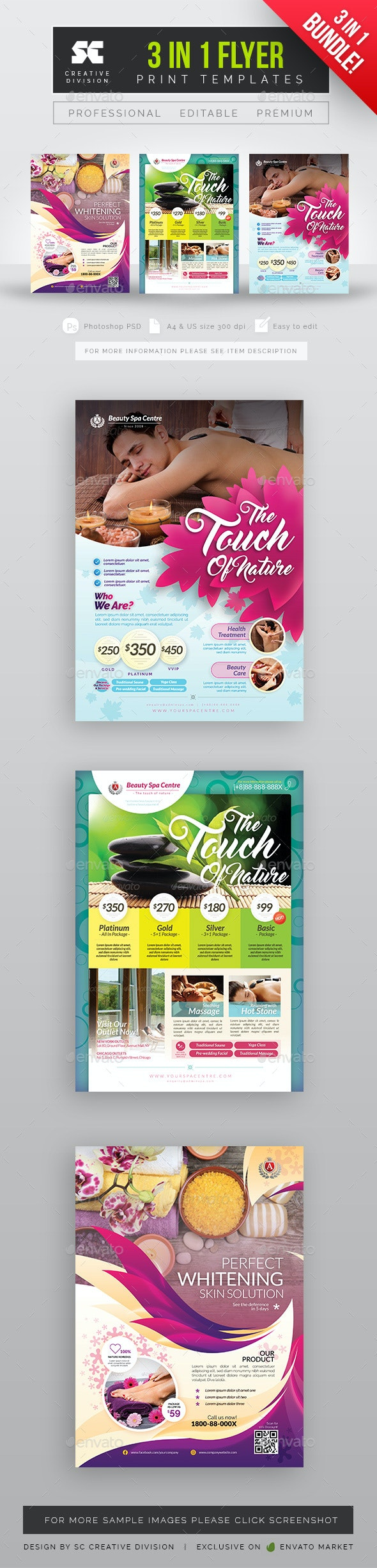Health and Beauty Flyer Bundle Packs - Miscellaneous Events