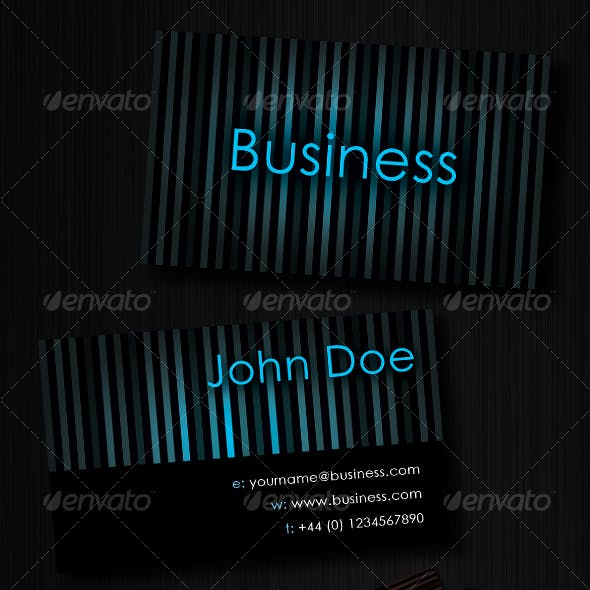 Striped Business Card : Unlimited Colors