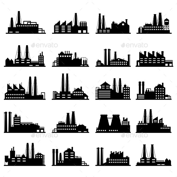 Industry Business Buildings - Buildings Objects