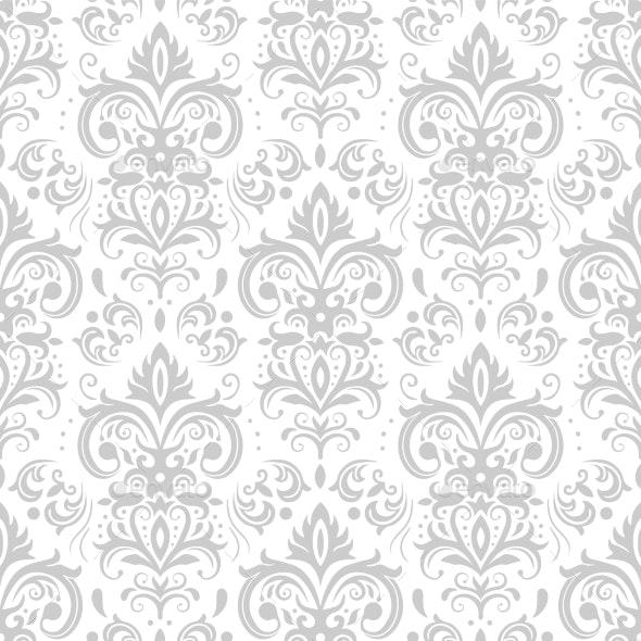 Decorative Damask Pattern Vintage Ornament - Backgrounds Decorative