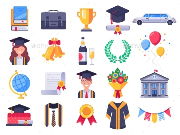 Graduation Day Icons - Miscellaneous Vectors