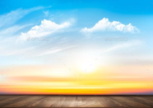 Sunset Sky Background - Landscapes Nature