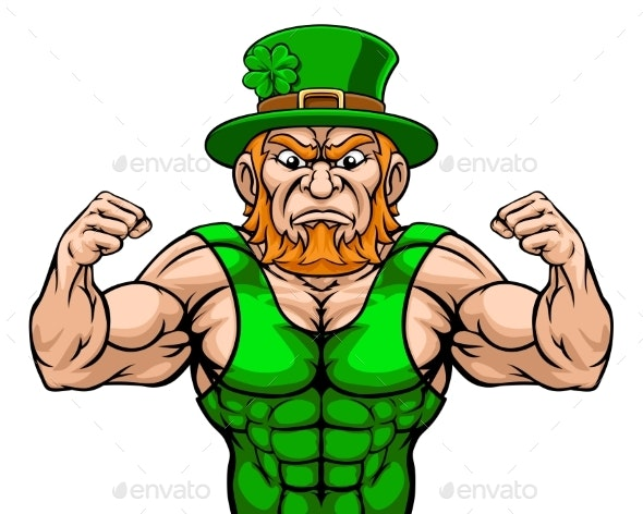 Leprechaun Sports Mascot Cartoon Character - Miscellaneous Characters