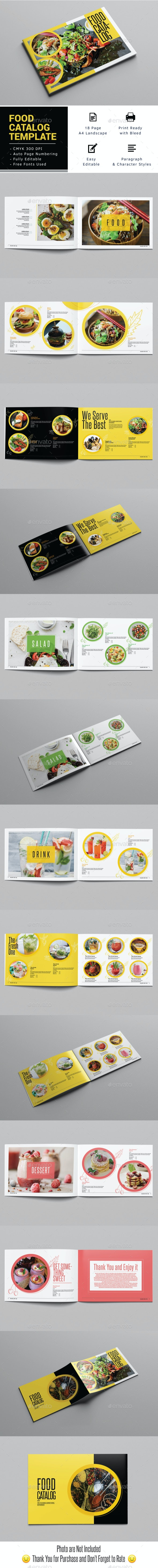 Food Catalog Template Landscape - Catalogs Brochures