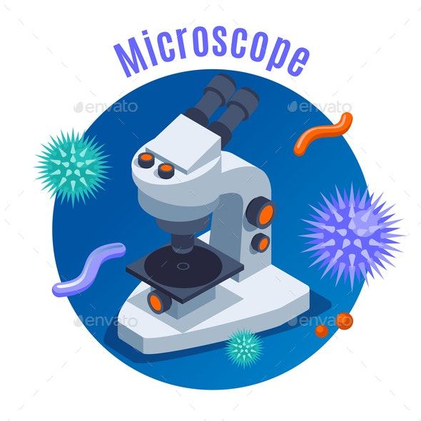 Microbiology isometric Background - Health/Medicine Conceptual