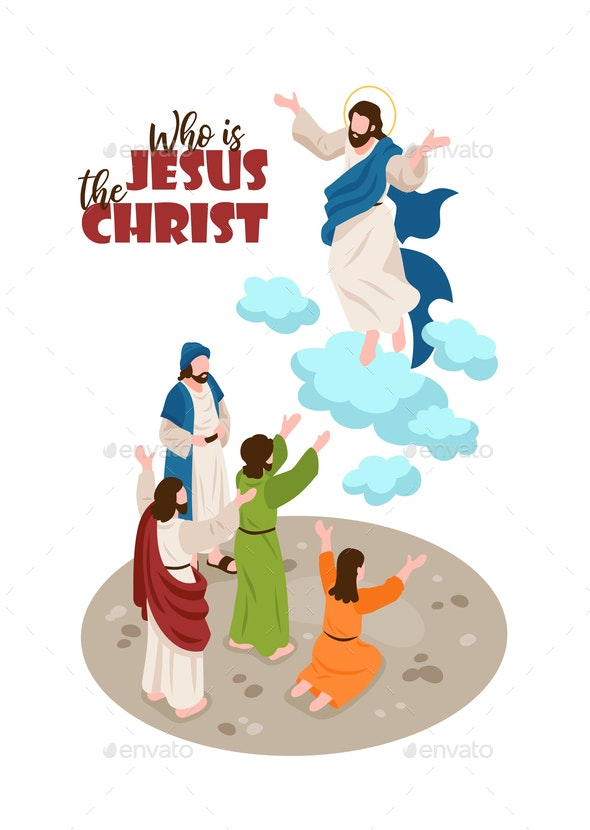 Jesus Christ Isometric Background - People Characters