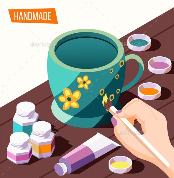 Hobby Crafts Isometric Background - Man-made Objects Objects