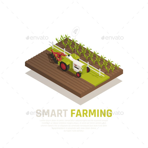 Smart Farming Composition - Food Objects