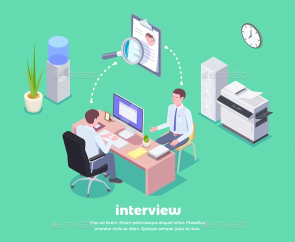 Job Interview Conceptual Background - People Characters