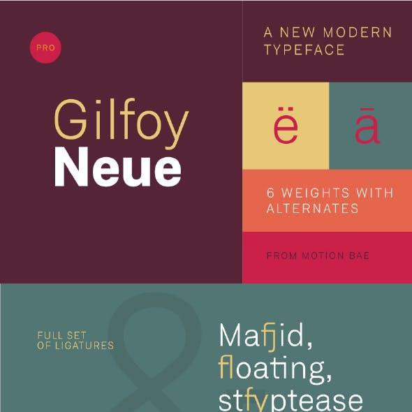 Gilfoy Neue Pro Font (6 Weights)