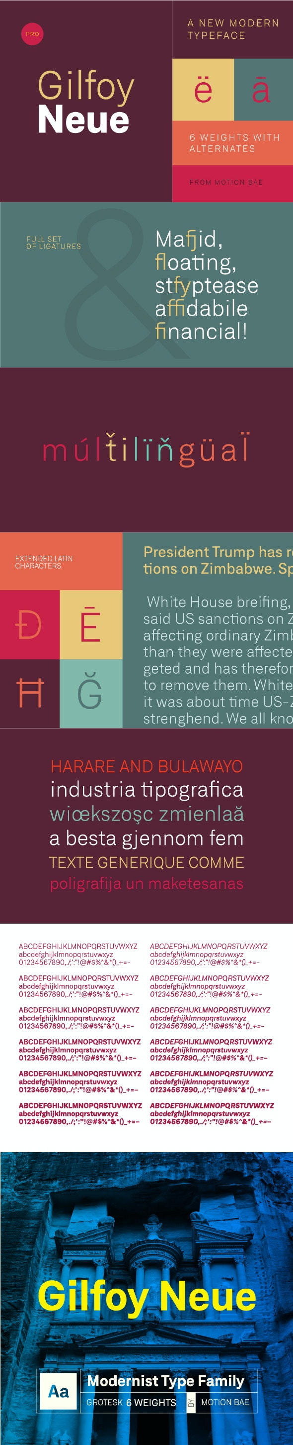 Gilfoy Neue Pro Font (6 Weights) - Miscellaneous Sans-Serif