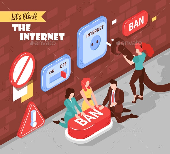 Blocking The Internet Composition - Miscellaneous Conceptual