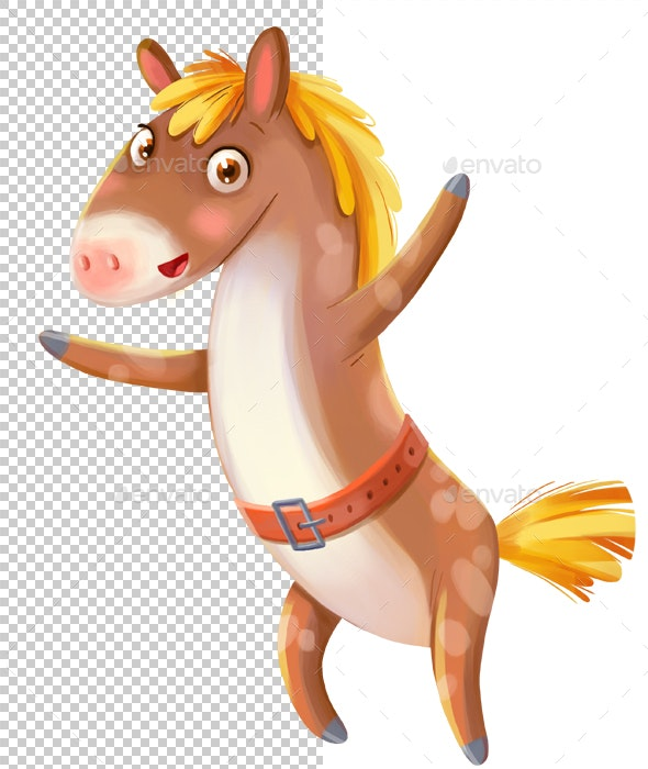 Horse - Characters Illustrations