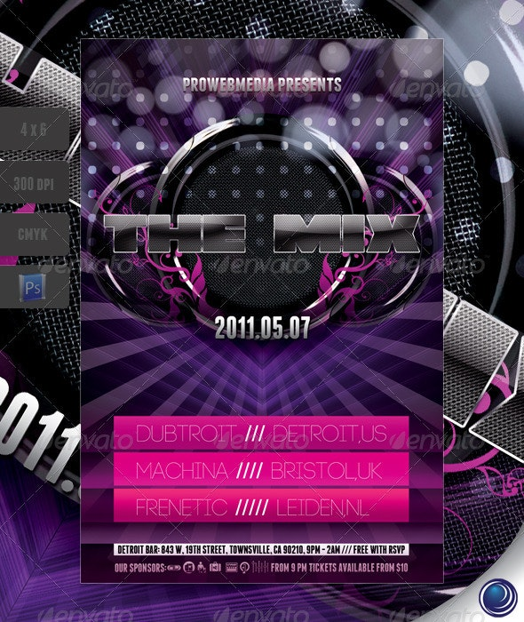 Music Speakers Flyer Template - Clubs & Parties Events