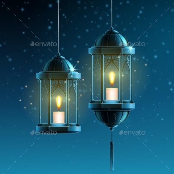Glowing Lanterns - Miscellaneous Vectors