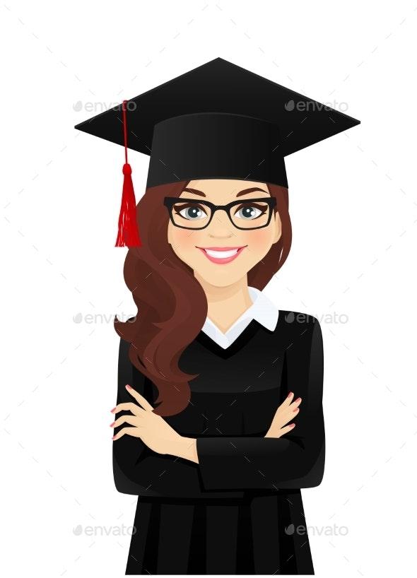 Portrait of Student Girl - Miscellaneous Vectors