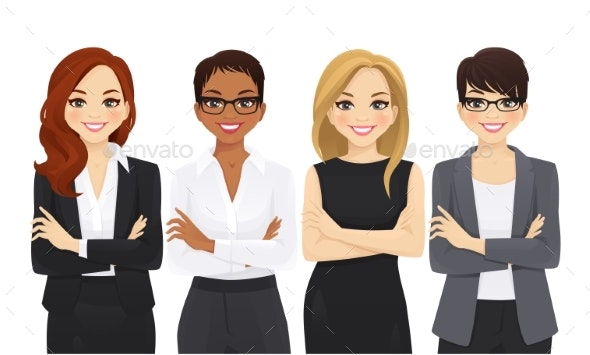 Business Woman Team Set - People Characters