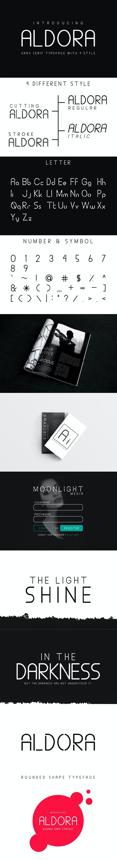 Aldora Futuristic Font - Futuristic Decorative