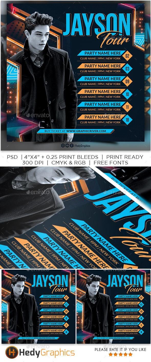 Artist Tour Flyer - Clubs & Parties Events