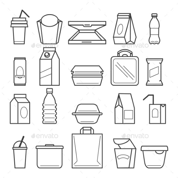 Fastfood Packing Icons - Miscellaneous Vectors
