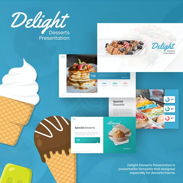 Delight - Desserts & Cake PowerPoint Template