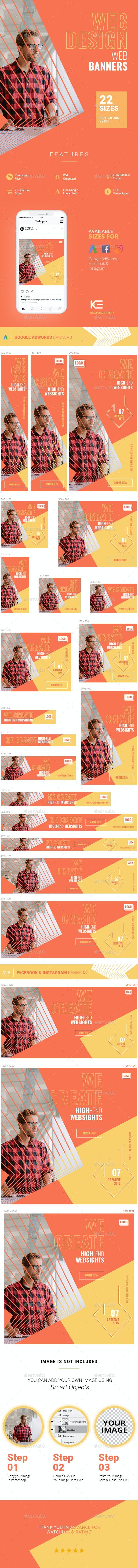 Web Design Web Banners - Banners & Ads Web Elements