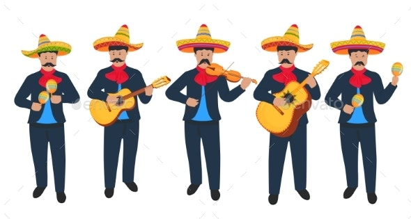 Mariachi Mexican Street Musicians - People Characters