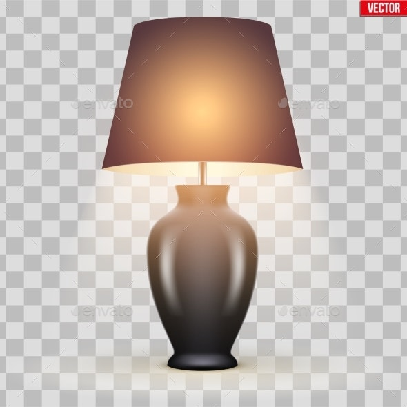 Classic Table Lamp with Bowl and Shade - Sports/Activity Conceptual