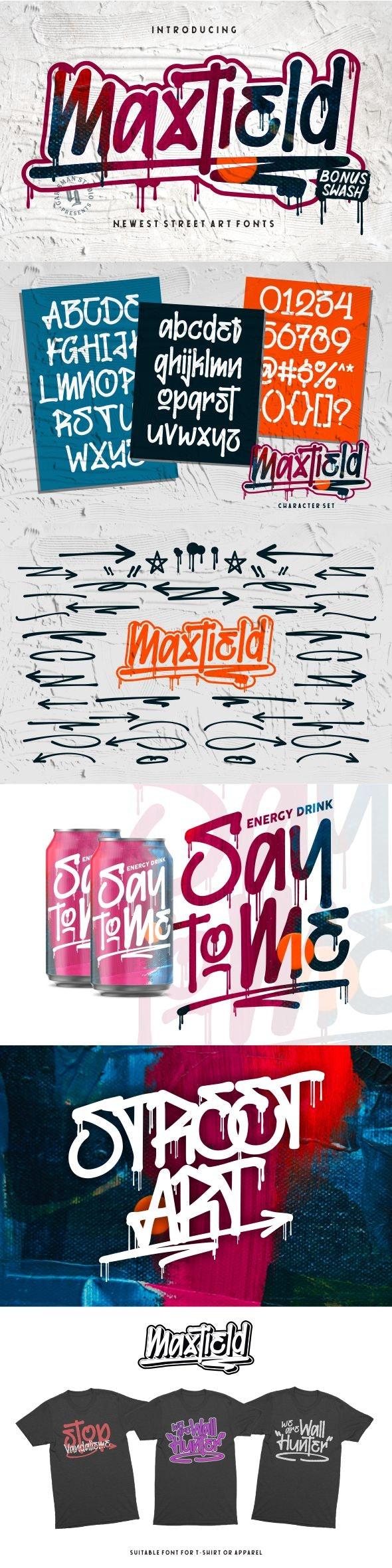 Maxtield - Graffiti Fonts - Graffiti Fonts