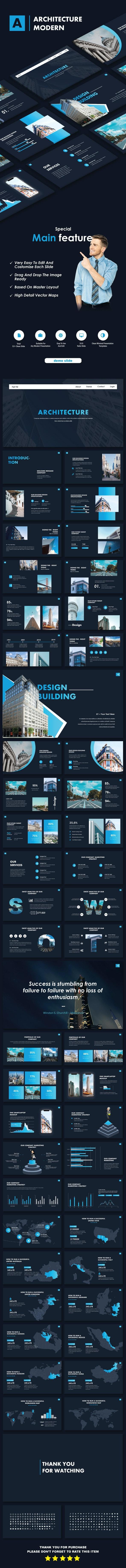 Architecture Modern Google Slide Templates - Google Slides Presentation Templates