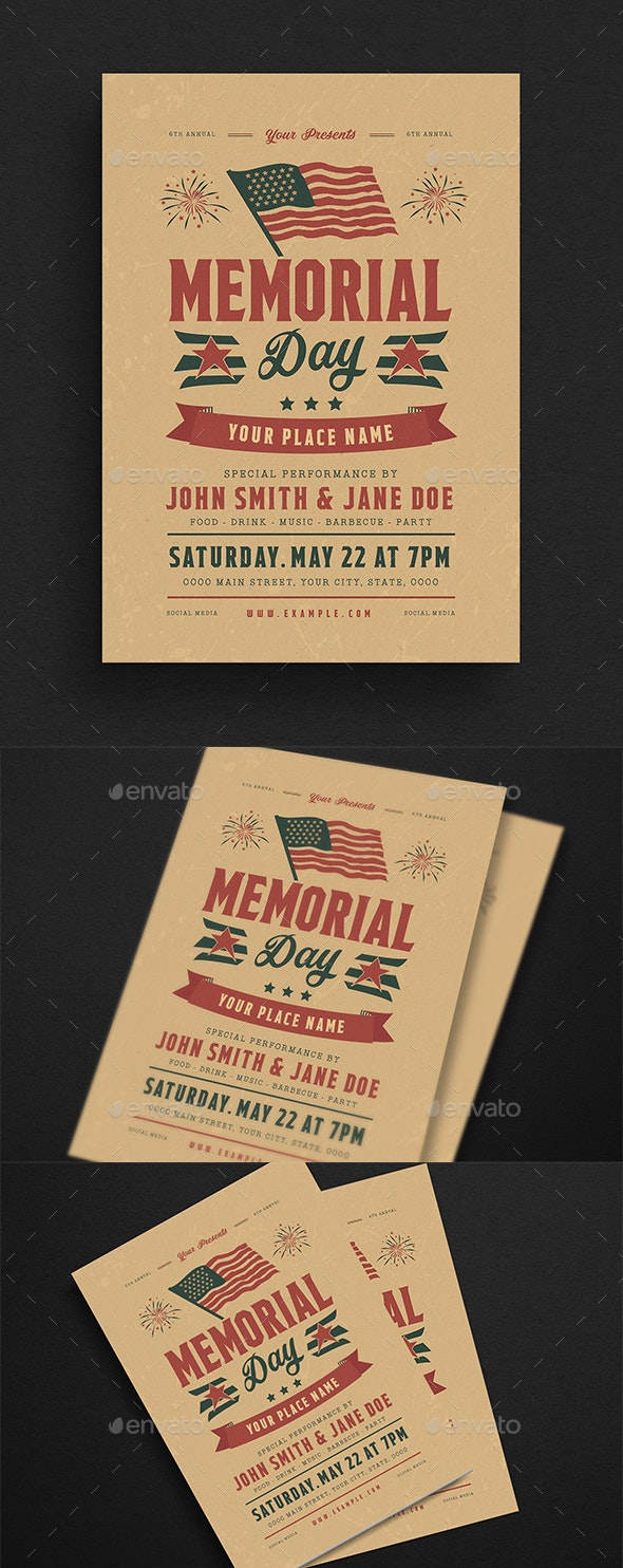 Memorial Day Event Flyer - Events Flyers