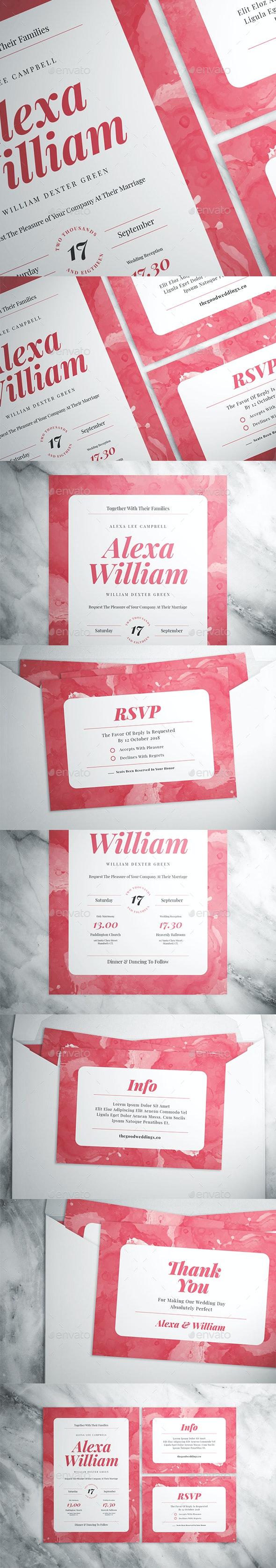 Watercolor Wedding Suite - Weddings Cards & Invites