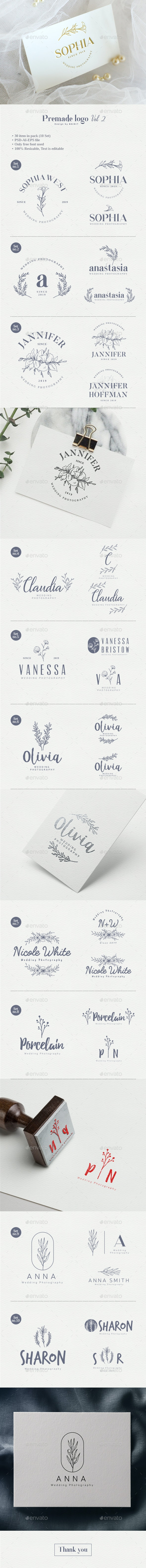 Premade Logo Vol 2 - Badges & Stickers Web Elements