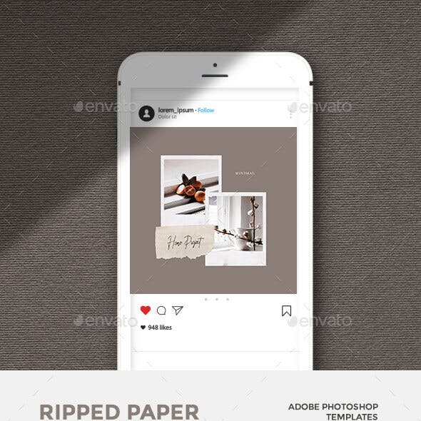 Ripped Paper - Instagram Posts