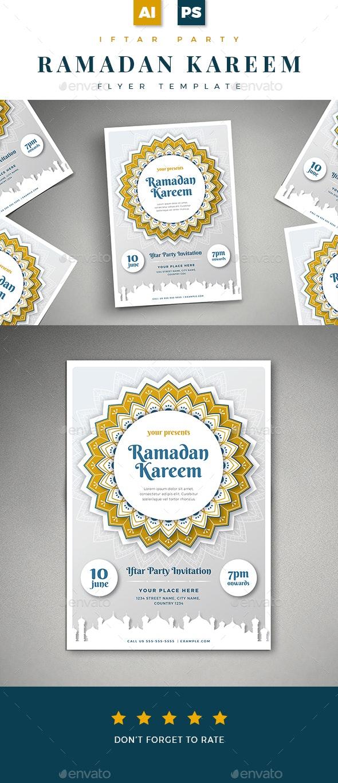 Ramadan Kareem Iftar Party Flyer - Holidays Events