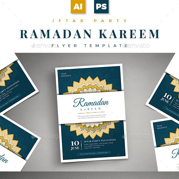 Ramadan Kareem Iftar Party Flyer 01
