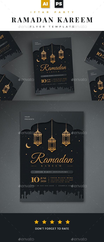 Ramadan Kareem Iftar Party Flyer 02 - Holidays Events