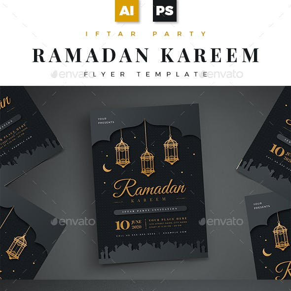 Ramadan Kareem Iftar Party Flyer 02
