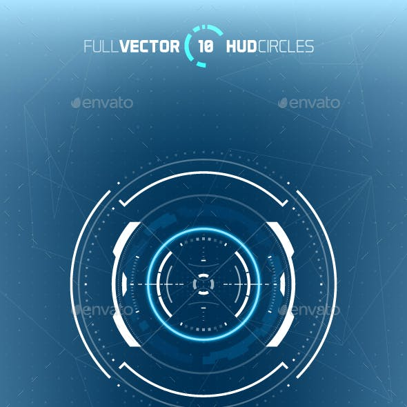 10 Futuristic Hud Circle Elements