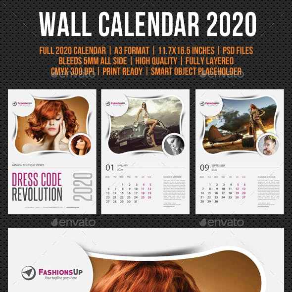 Wall Calendar 2020 V13