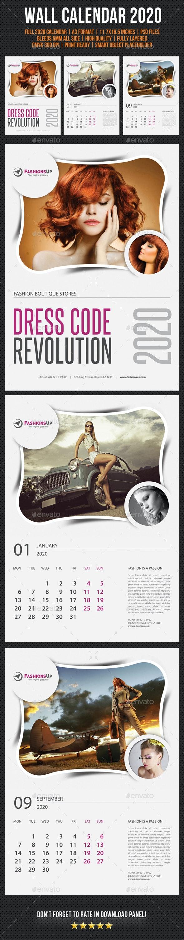 Wall Calendar 2020 V13 - Calendars Stationery