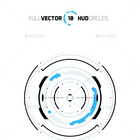 10 Hud Circle Elements